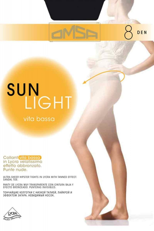 Tights 8 Den Low Waist Omsa 095
