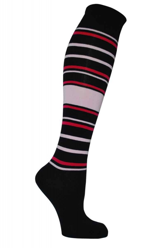 Women's patterned 3/4 bamboo socks