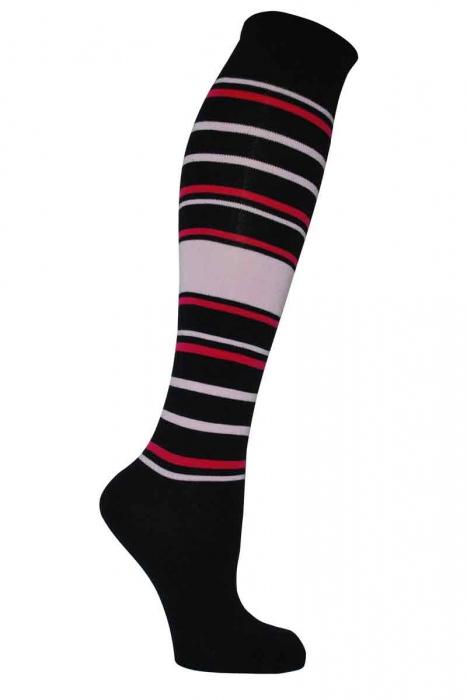 Women's patterned bamboo knee high socks