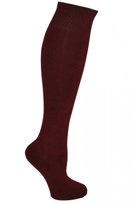 Women's monochromatic bamboo knee high socks