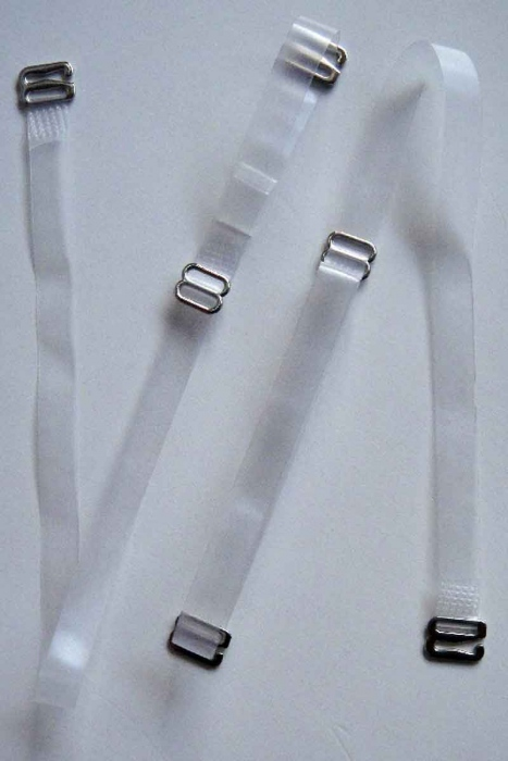 Silicone Straps with Metal Tip for Bras