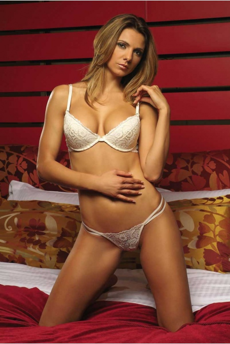 Stylish Lace Set Bra & G-string Panties 5611-737
