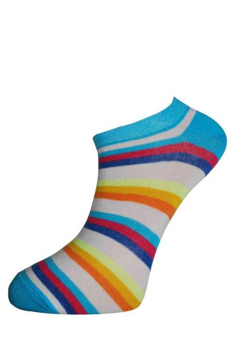 Women's low stripe cotton socks