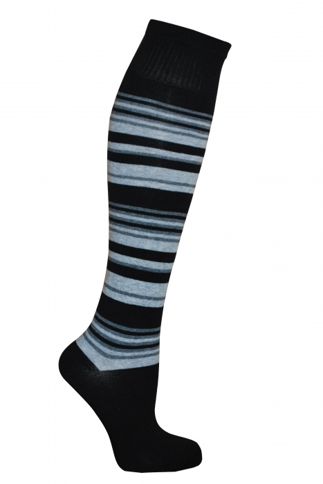Women's stripe cotton Knee high socks