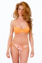 Bikini Set Push up balconette & bikini bottoms thin tie 1088