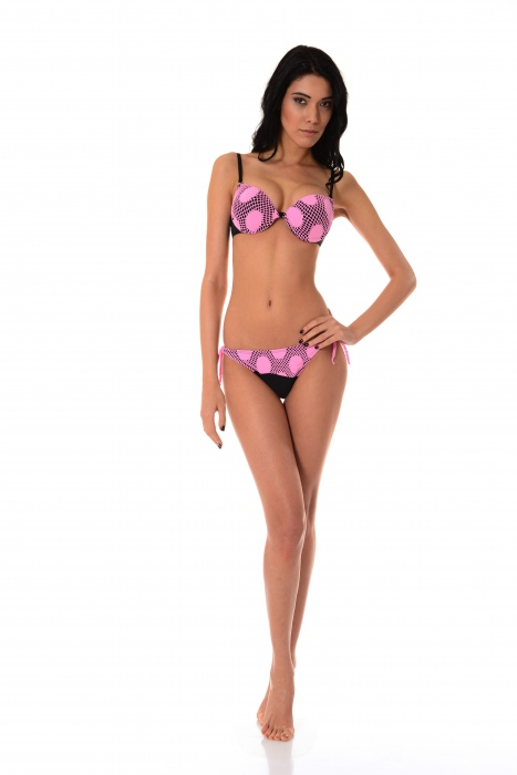 Bikini Set Push up hard cup & bottoms thin tie 1176