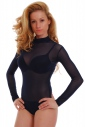 Women's Bodysuit turtle neck see through thong style 337