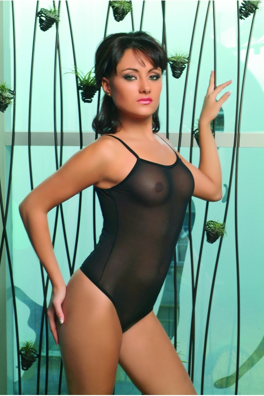 Women's Bodysuit Thin Strap See Through Vest 325