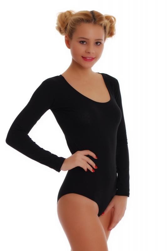 Cotton Women S Long Sleeve Bodysuit Bikini Style 1380