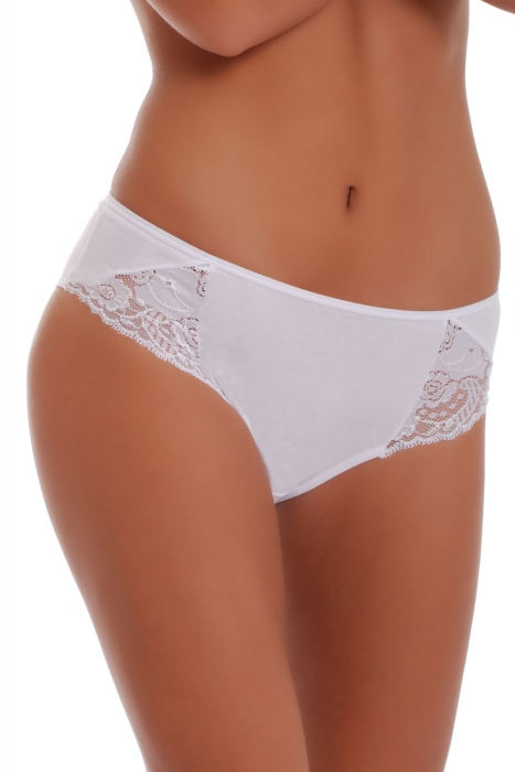 Deep Cotton Classic Briefs Panties Wide Belt Decorated with Lace 026