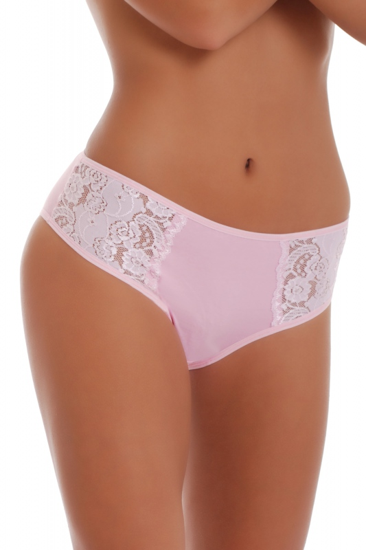 Deep Cotton Classic Briefs Panties with Wide Belt with Lace 027