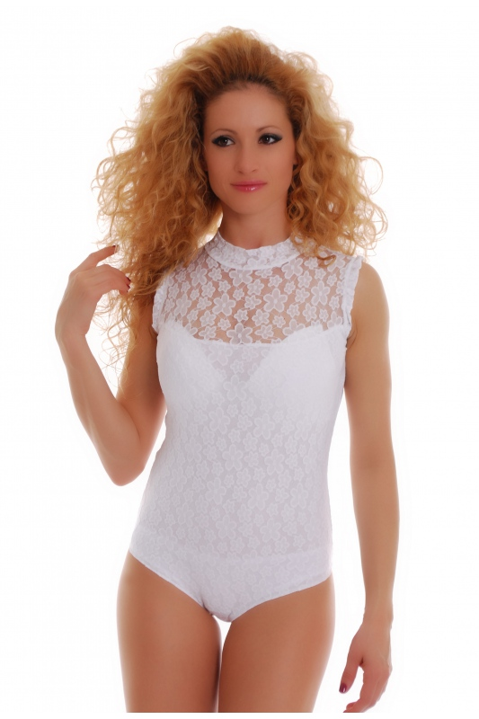 Bodysuit Without Sleeve Semi-Polo Bikini 1463