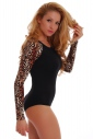 Tiger Bodysuit Long Sleeve Thong 1457