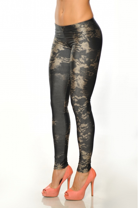 Women's elastic Leggings print 1505-3