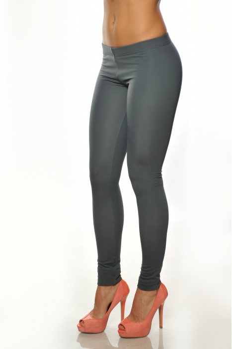 Dark grey Women's thermal wadded Leggings 15055