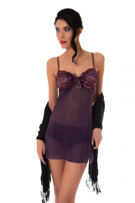 Tulle with Lace Babydoll 883