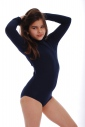 Child Long Sleeve Turtle Neck Bodysuit Girl Leotardl 1492
