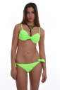 Bikini set Molded hard cup & ribbons tie side bottoms 1185