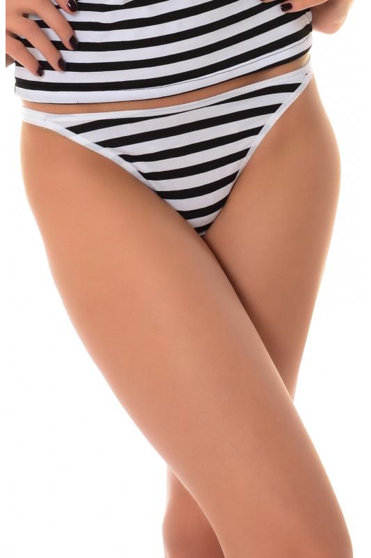 Еxcised Cotton Tanga Panties Stripe 1215