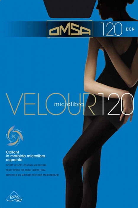 Tights Matt Velur 120 Den Omsa 198