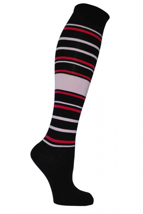 Women's patterned bamboo knee high socks