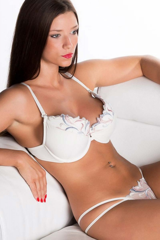 Elegant Lace Bra with a Deep Hard Cup 4088