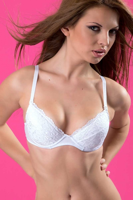 Eleganly Lace Bra Hard Cup 7040