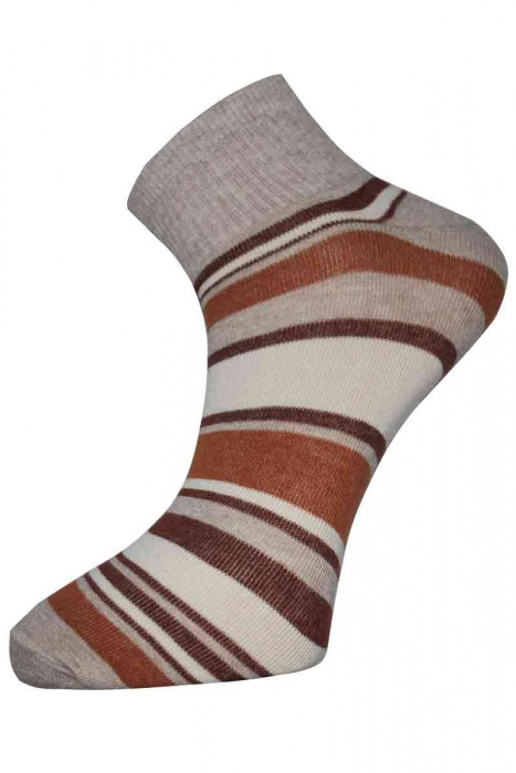 Striped Women's trainer cotton socks