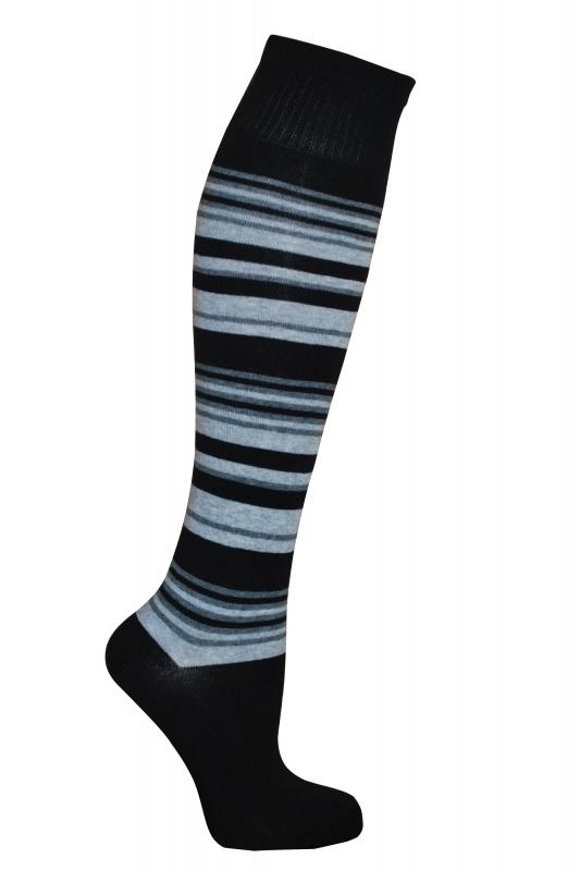 Women's 3/4 stripe cotton socks