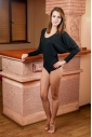 Ladies Thermal Bodysuit Round Neck Long Sleeve Thong Style 15-88