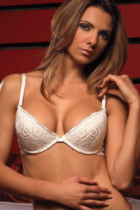 Stylish Lace Bra - Hard Cup 5611