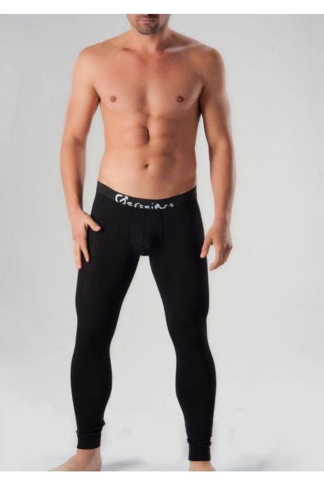 Μαύρα βαμβακερά γκέτες ανδρών Geronimo 1051j6