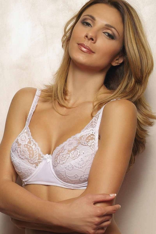 Lace Bra with Soft Semi Padded Cup 3001