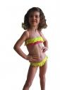 Kids Bikini Swimsuit bando macrame bottoms with ties 1115
