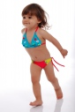 Kids Bikini Swimsuit soft triangle bottoms with ties 1114