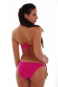 Bikini set Maillot sided Bando & ribbons tie side bottoms 1188