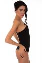 Cotton Women's extravagant bodysuit one shoulder 1442