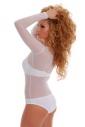Ladies Tulle Bodysuit with long sleeves neck bikini style 380