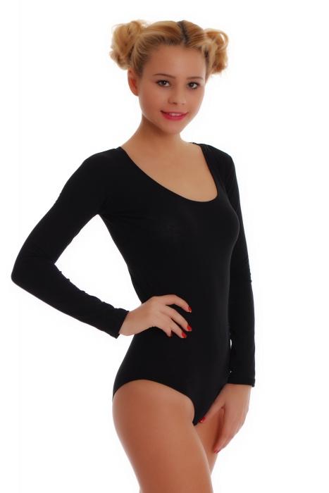 Cotton Women's Long Sleeve Bodysuit Bikini style 1380