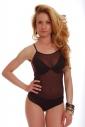 Women's Bodysuit Thin Strap See Through Vest 325
