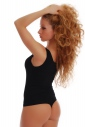 Cotton Ladies Bodysuit with Wide Straps Thong Style 1355