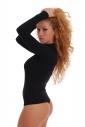 Cotton women's Bodysuit Turtle Neck Long Sleeve 1337