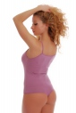 Cotton Womens Bodysuit Thin Strap Vest Thong Style 1350