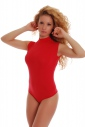 Cotton Bodysuit Without Sleeve Semi-Polo Thong Style 1336