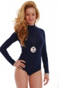 Cotton women's Bodysuit Turtle Neck Long Sleeve 1337