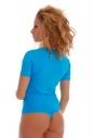 Cotton Bodysuit Round Neck Short Sleeve Thong Style 1440