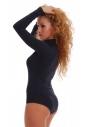 Cotton Bodysuit Turtle Neck Long Sleeve Bikini Style 1338