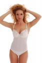 Ladies Bodysuit lace hard cup built bra thong style SALE 603