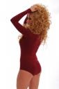 Wool Bodysuit Round Neck Long Sleeve Bikini Style 1880