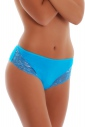 Deep Cotton Classic Brief Panties Wide Belt with Lace 025